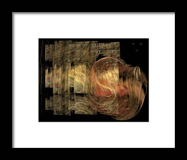 Abstract Framed Print featuring the digital art The Crooked Road by NirvanaBlues