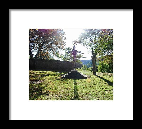 Cross Framed Print featuring the photograph The Cross by Margaret Fronimos