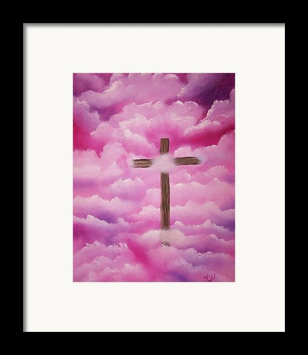 Cross Artwork Framed Print featuring the painting The Cross Of Redemption by Laurie Kidd
