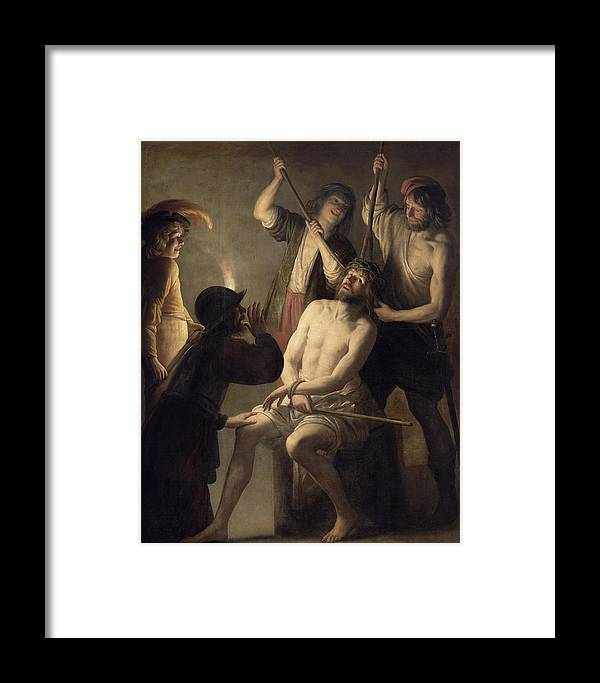 Jesus Framed Print featuring the painting The Crowning With Thorns by Jan Janssens