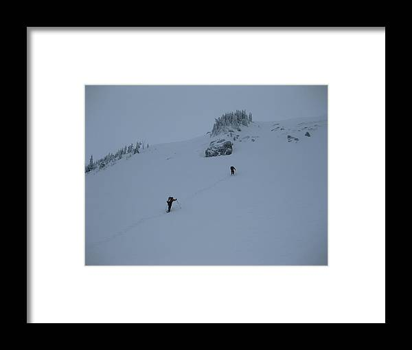 Snowshoe Framed Print featuring the photograph The Crux by Mark Camp