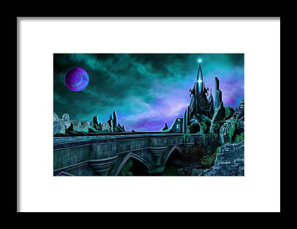 Copyright 2015 - James Christopher Hill Framed Print featuring the painting The Crystal Palace - Nightwish by James Christopher Hill