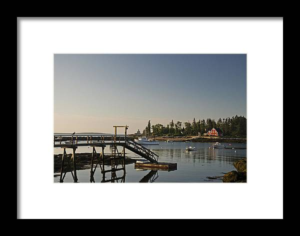 Atlantic Framed Print featuring the photograph The Cuckolds Lighthouse From Newagen Maine by Mark Emmerson
