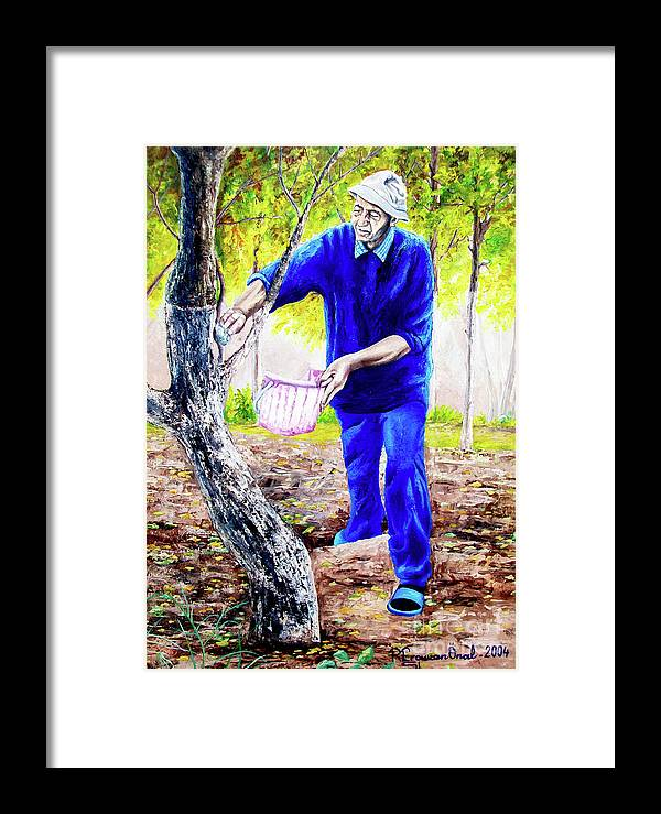 Daddy Framed Print featuring the painting The Cure - La Cura by Rezzan Erguvan-Onal