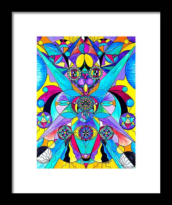 Vibration Framed Print featuring the painting The Cure by Teal Eye Print Store