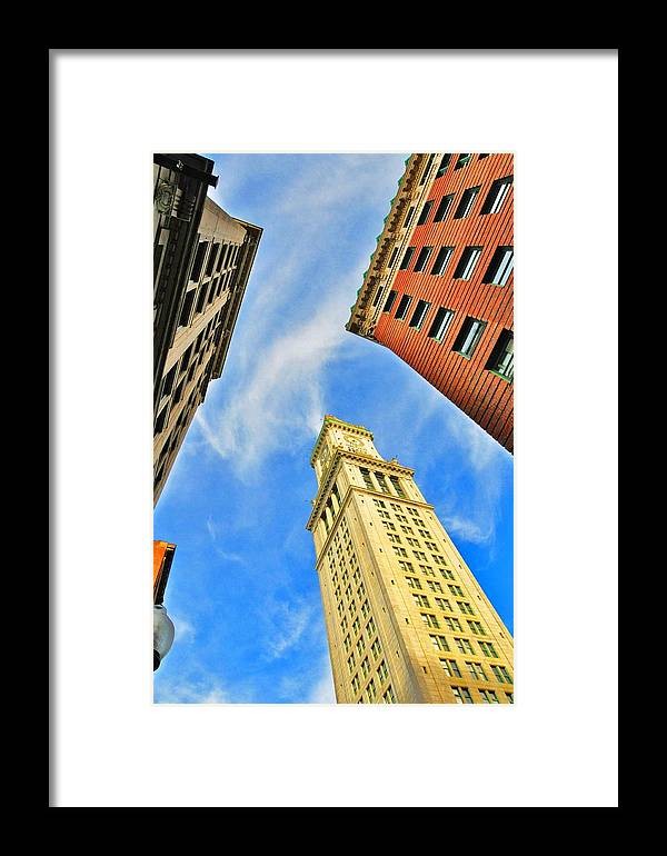 Seagull Framed Print featuring the photograph The Custom House by Andrew Dinh