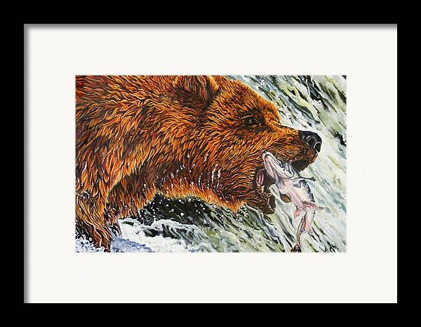 Bear Framed Print featuring the painting The Cycle by Donald Dean