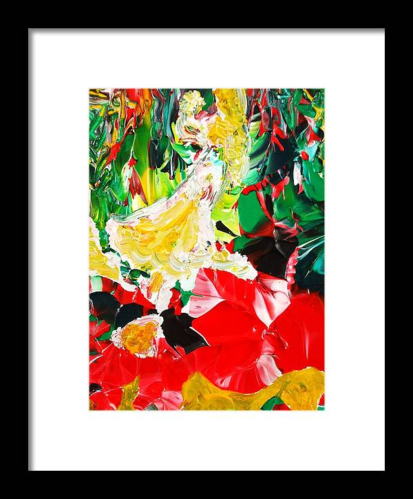 Figurative Surrealist Expressionism Conceptual Abstract Portrait Landscape Dance Love Poetry Nature Framed Print featuring the painting The Dance by Carmen Doreal