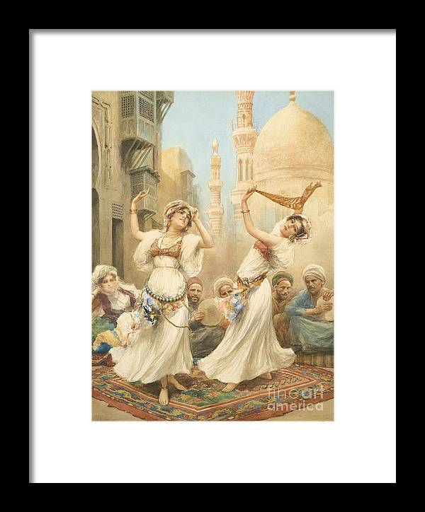 Fabio Fabbi Italian 1861 - 1910 Framed Print featuring the painting The Dance by Celestial Images