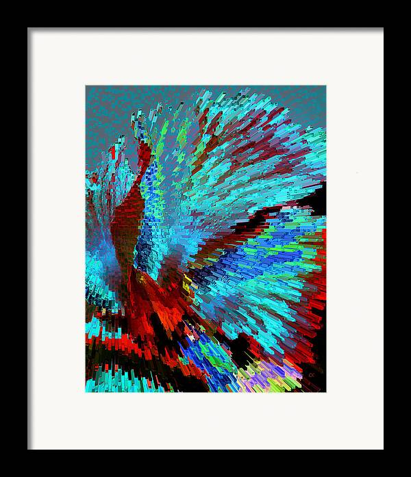 Abstract Framed Print featuring the digital art The Dance by Gerlinde Keating - Galleria GK Keating Associates Inc