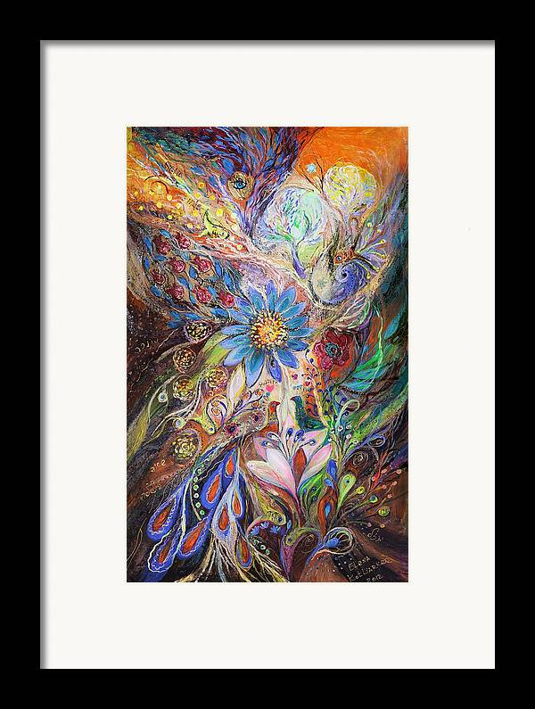 Judaica Framed Print featuring the painting The Dance Of Light by Elena Kotliarker