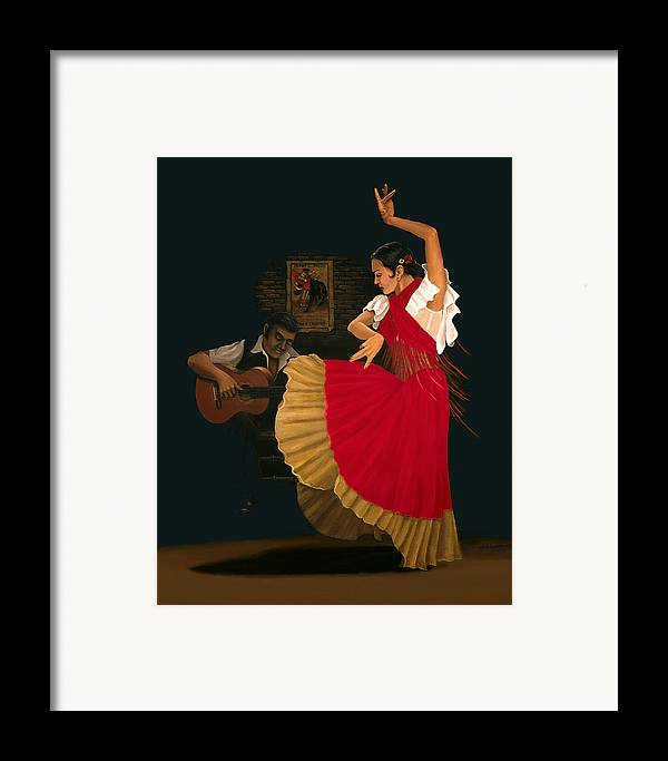 Figure Painting Framed Print featuring the painting The Dance Of Passion by Brooke Lyman