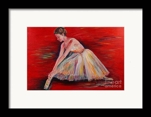 Dancer Framed Print featuring the painting The Dancer by Nadine Rippelmeyer