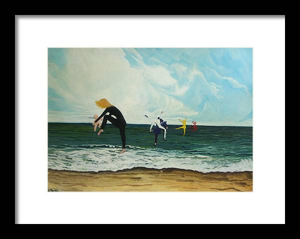 Surreal Framed Print featuring the painting The Dancers by Georgette Backs