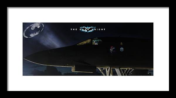 Aviation Framed Print featuring the digital art The Dark Knight 2 by Peter Chilelli