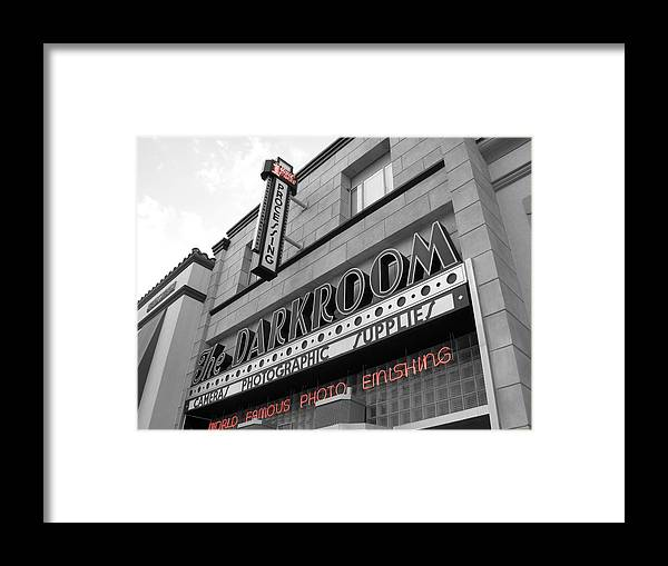 City Framed Print featuring the photograph The Darkroom by Audrey Venute