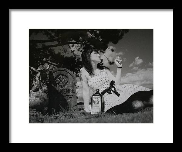 Black & White Framed Print featuring the photograph The Death Of Innocence by Erika Lesnjak-Wenzel