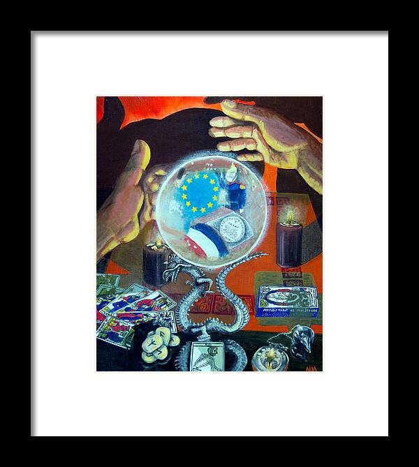 Scene Of Life Framed Print featuring the painting The Death Of The Franc by Aymeric NOA