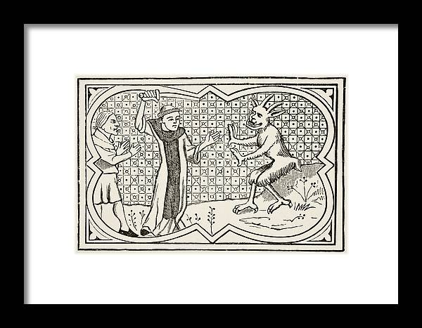 The Devil Attempts To Seize A Magician Framed Print