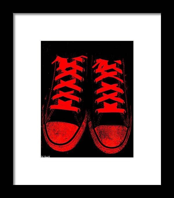 The Devil Wears Converse Framed Print featuring the photograph The Devil Wears Converse by Edward Smith