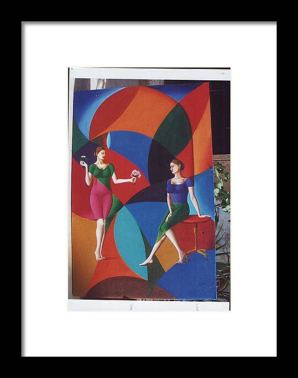 Women Framed Print featuring the painting The Dignity Of Love by Mak Art