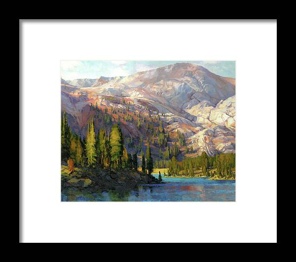 Mountain Framed Print featuring the painting The Divide by Steve Henderson