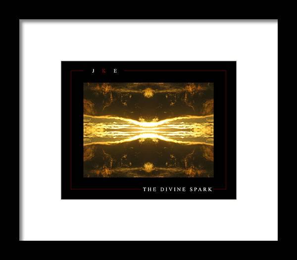 Sun Framed Print featuring the photograph The Divine Spark by Jonathan Ellis Keys