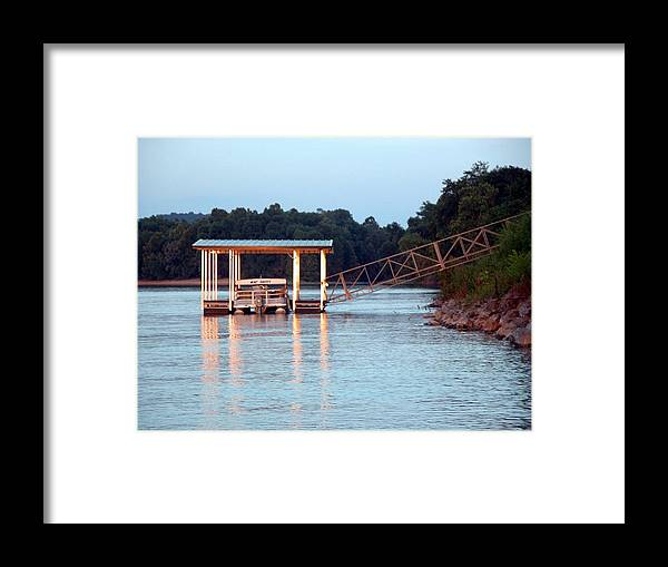 River Framed Print featuring the photograph The Dock by Michael Morrison