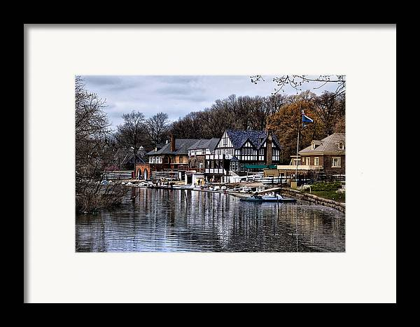 Docks Framed Print featuring the photograph The Docks At Boathouse Row - Philadelphia by Bill Cannon