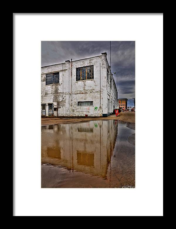 Hdr Framed Print featuring the photograph The Docks by Brian Fisher