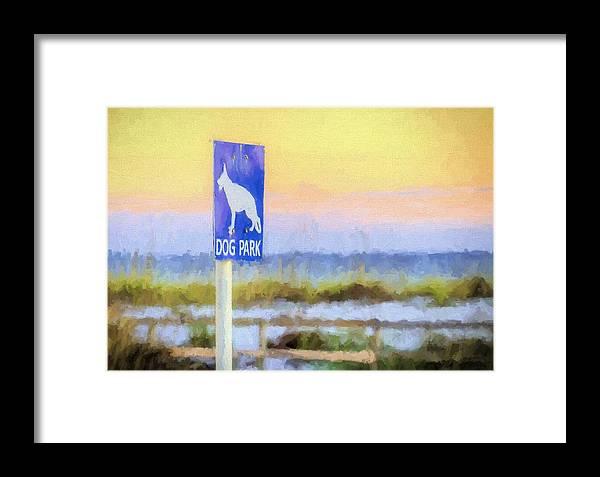 Pensacola Beach Dog Park Framed Print featuring the photograph The Dog Park On Pensacola Beach by JC Findley