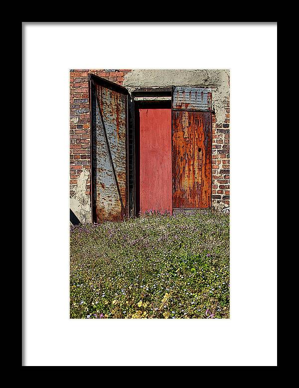 Rust Framed Print featuring the photograph The Door by Alan Skonieczny