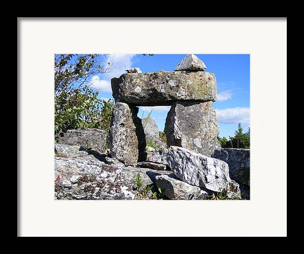 Landscape Framed Print featuring the photograph The Door by Doug Mills