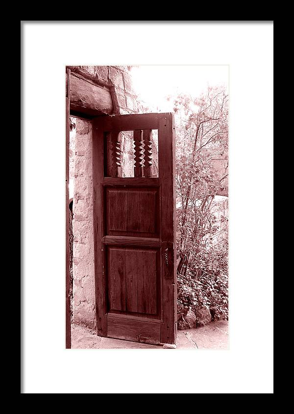Door Framed Print featuring the photograph The Door by Wayne Potrafka