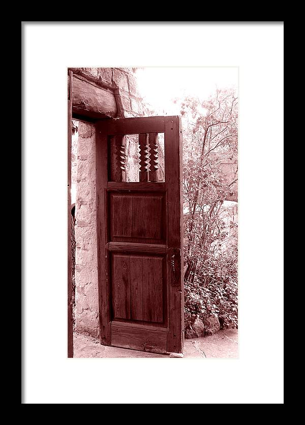 Door Framed Print featuring the photograph The Door by Wayne Potrafka