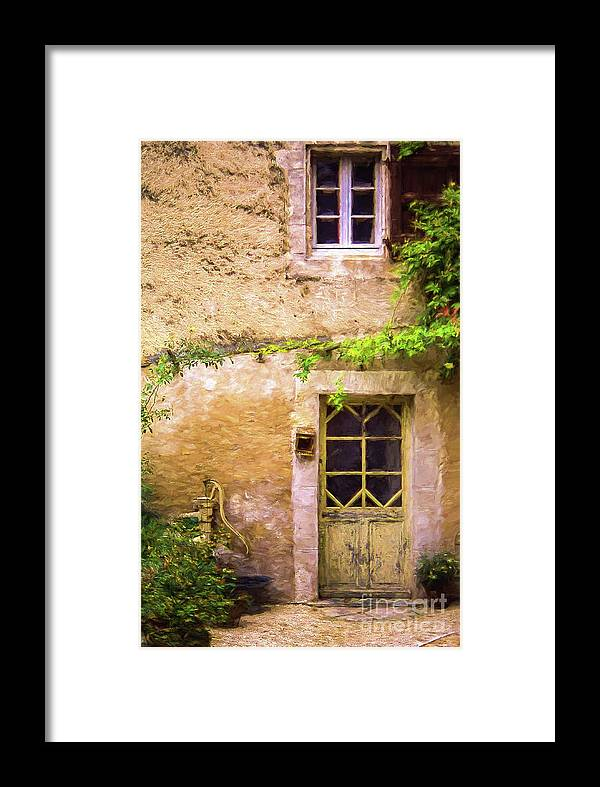 Door Framed Print featuring the photograph The Doorway To Provence by Robert Brown
