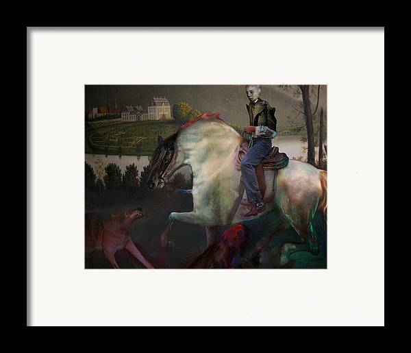 Dream Framed Print featuring the digital art The Dream 1 by Henriette Tuer lund
