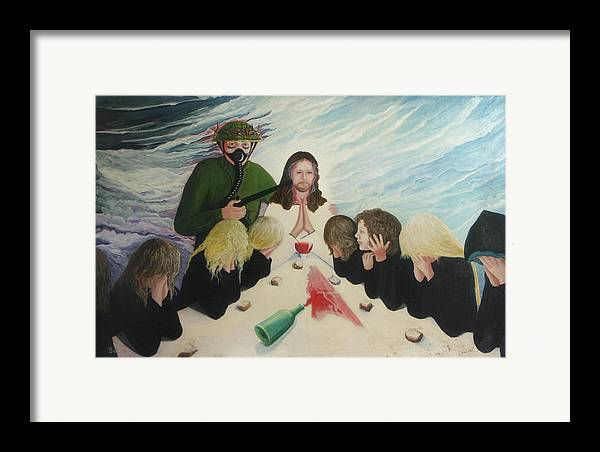 Religious Framed Print featuring the painting The Dream by Georgette Backs