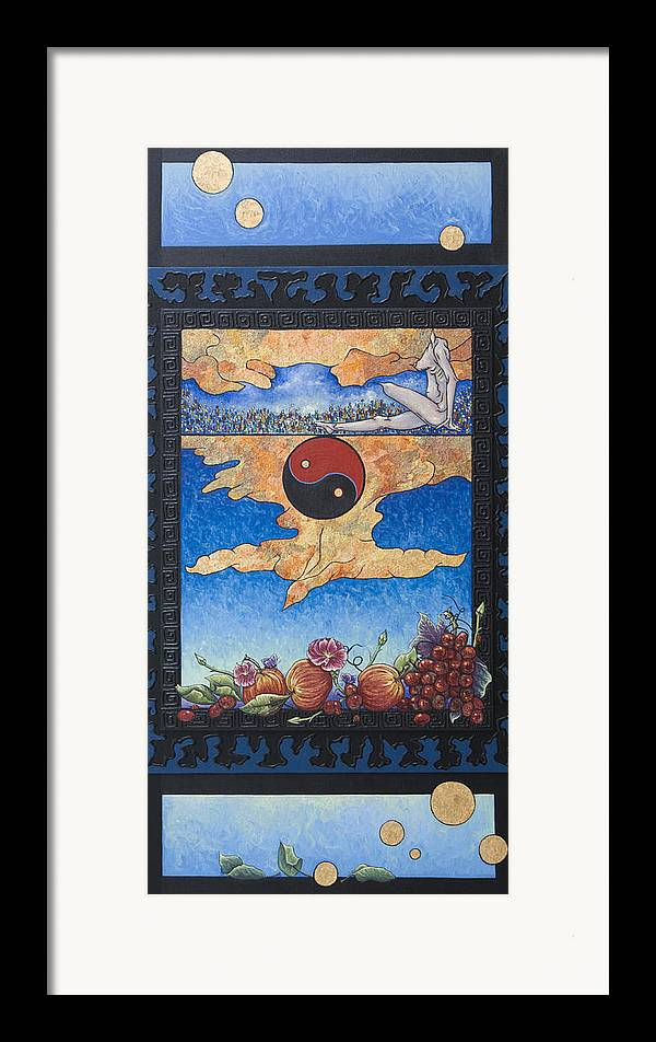 Karma Framed Print featuring the painting The Dream by Judy Henninger