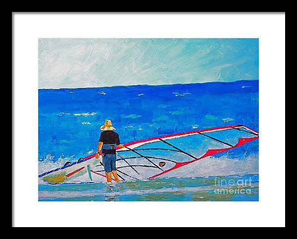 Beach Art Framed Print featuring the painting The Dreamer Disease I by Art Mantia