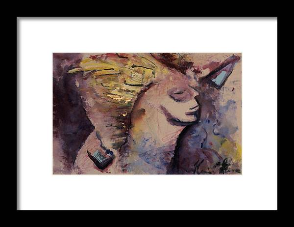 Abstract Framed Print featuring the painting The Dreams I Had When I Was Young by Kevin Stevens