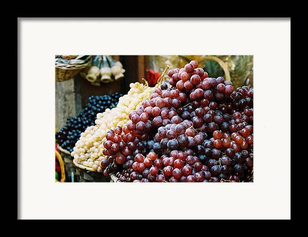Grapes Framed Print featuring the photograph The Drink Of Italy by Kathy Schumann