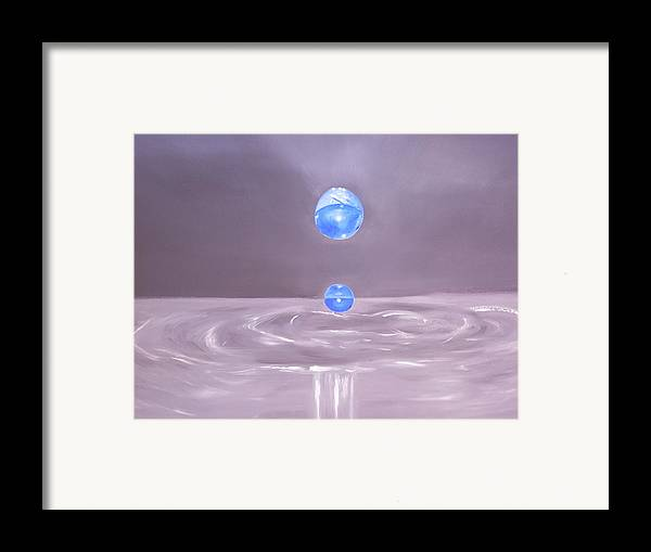 Nature Framed Print featuring the painting The Drop by Murielle Hebert