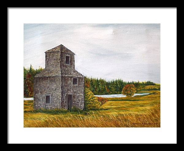 Barn Framed Print featuring the painting The Drying Barn by Norman F Jackson