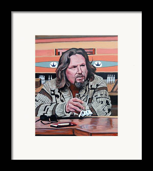 Dude Framed Print featuring the painting The Dude by Tom Roderick