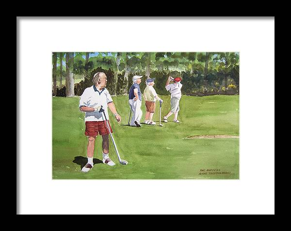 People Framed Print featuring the print The Duffers by Anne Trotter Hodge