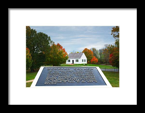 Maryland Framed Print featuring the photograph The Dunkard Church by Allen Gray