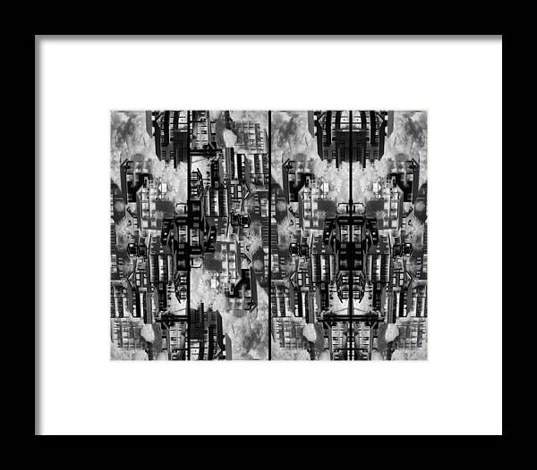 Abstract Framed Print featuring the photograph The Dwellings 2 by Daniel Schubarth
