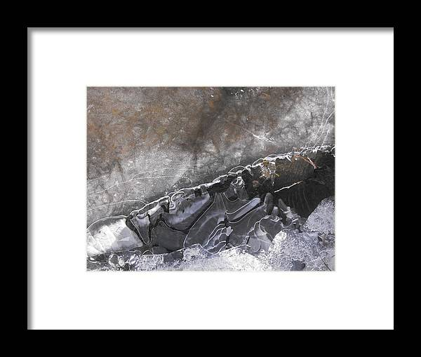 Abstract Framed Print featuring the photograph The Edge Of Time by john Kuti