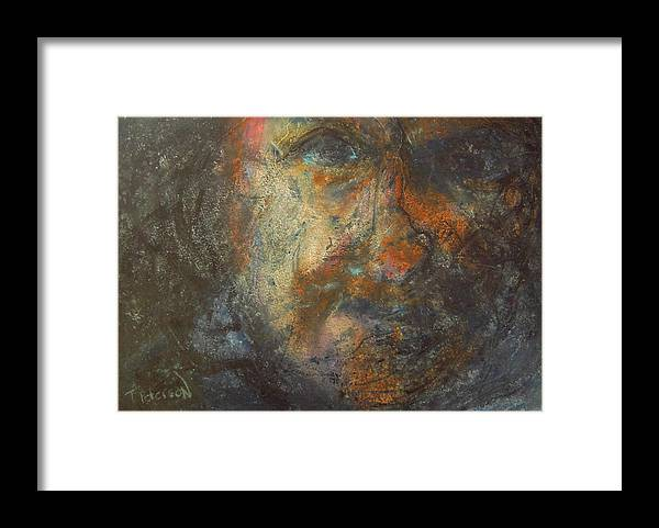 Painting Framed Print featuring the painting The Edge by Todd Peterson